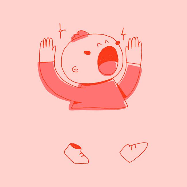 Ilustración de la ilustradora y animadora 2D Joëlle Carreño, baby 1