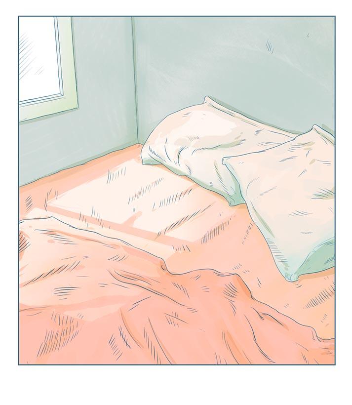Ilustrador Mono blanco Cama