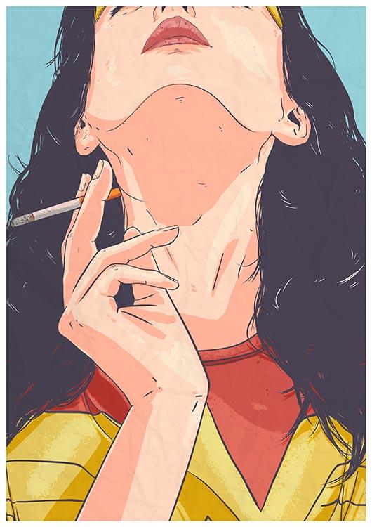 Ilustrador Mono Blanco WonderWoman