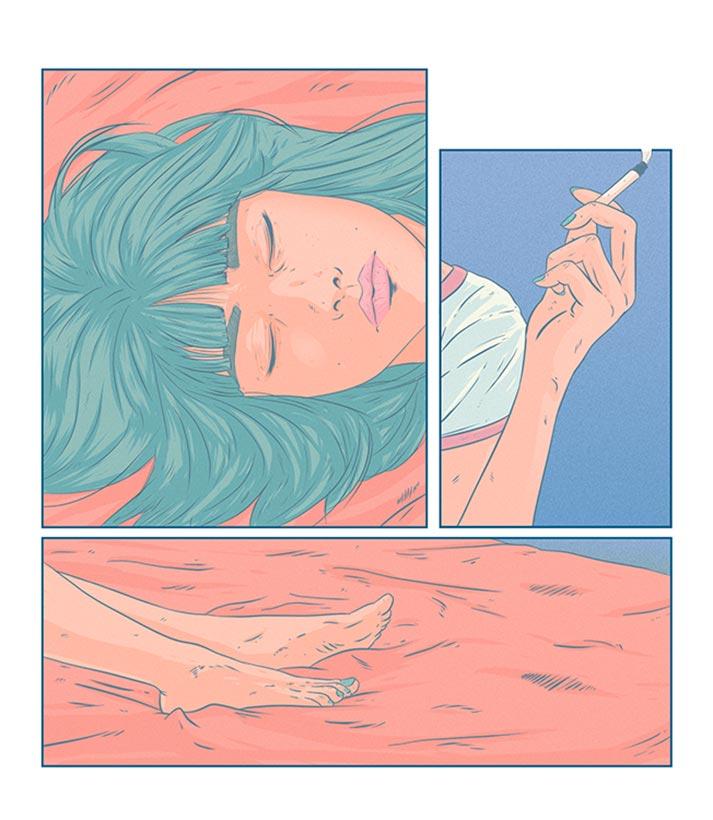 Ilustrador Mono Blanco relax