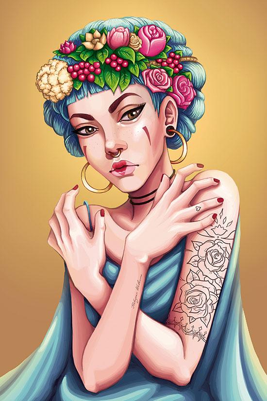 Ilustradora 3d Ana Dalle Flowers
