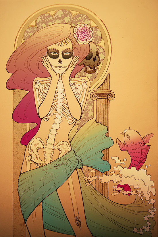 Ilustradora 3d Ana Dalle Mermaid