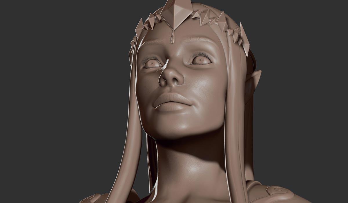Ilustradora 3d AnaDalle Zelda Princess Detail 3