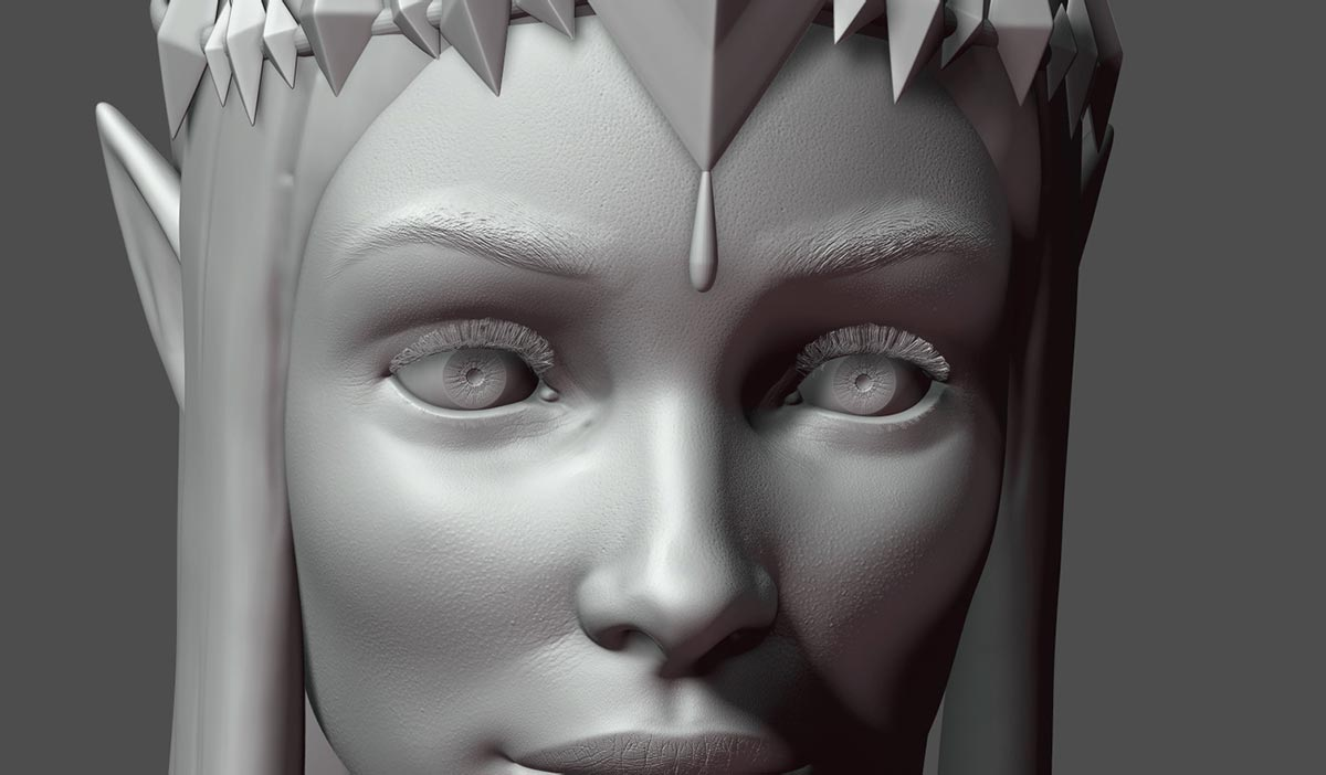 Ilustradora 3d Ana Dalle Zelda Princess Detail 2