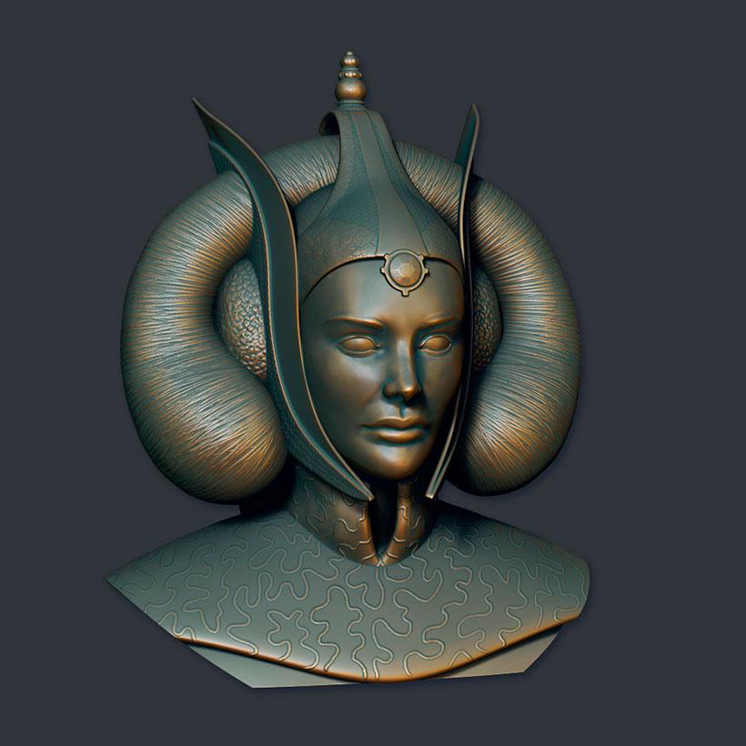 Ilustradora 3d Ana Dalle Amidala Tribute 1