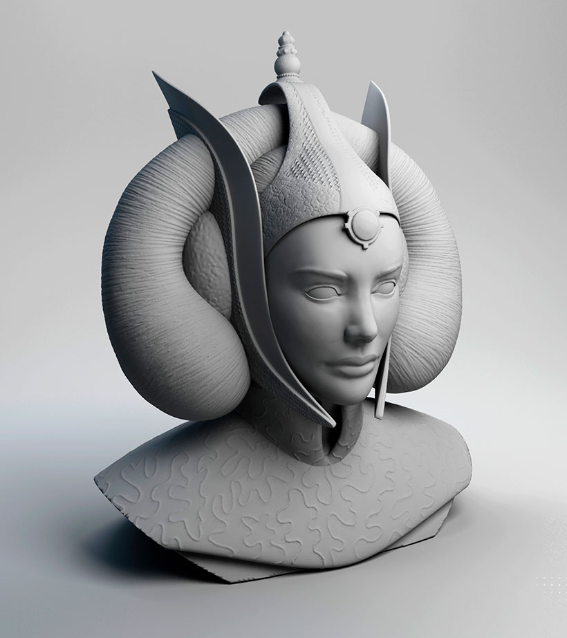 Ilustradora 3d Ana Dalle Amidala Tribute 2