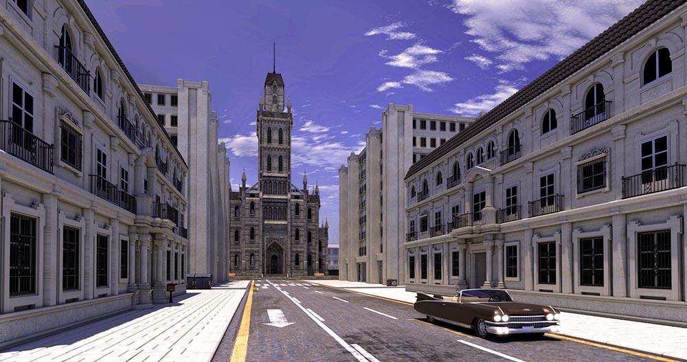 Ilustradora june illustration Ana Dalle 3d City 2
