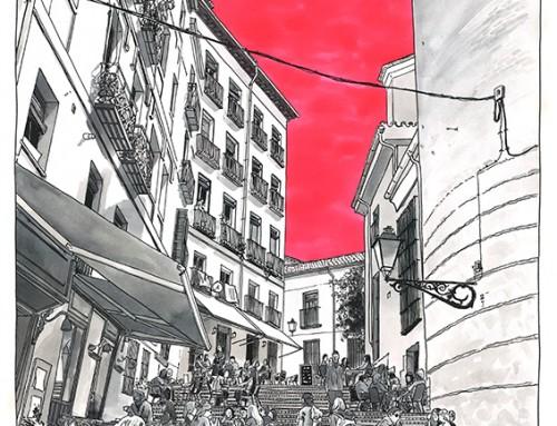 """Daniel Moyano, realiza ilustraciones para la sección """"Editorial"""" de la revista Time Out"""
