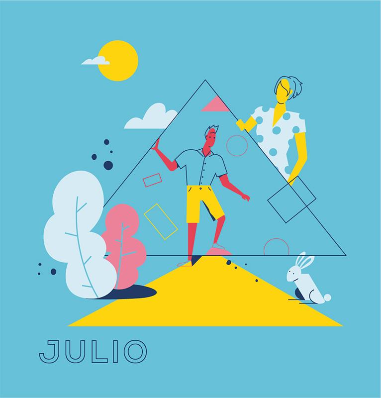Ilustración de la ilustradora y animadora 2D Joëlle Carreño, julo