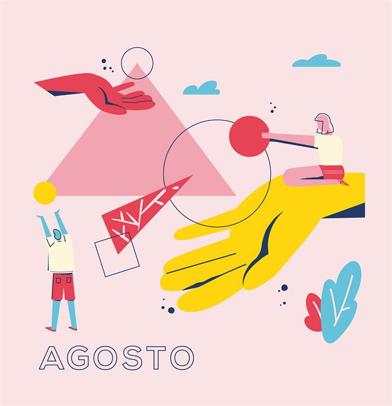 Ilustración de la ilustradora y animadora 2D Joëlle Carreño, agosto