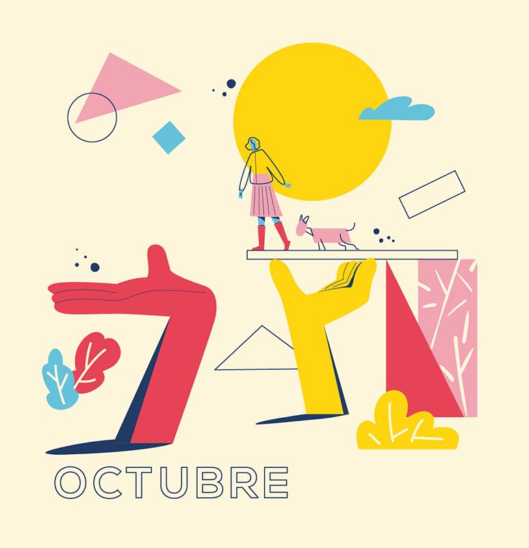 Ilustración de la ilustradora y animadora 2D Joëlle Carreño, octubre