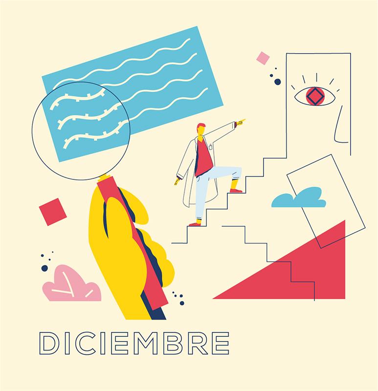 Ilustración de la ilustradora y animadora 2D Joëlle Carreño, diciembre