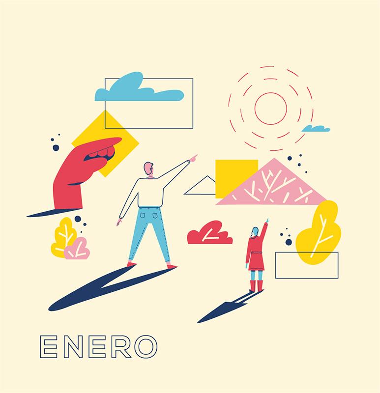 Ilustración de la ilustradora y animadora 2D Joëlle Carreño, enero