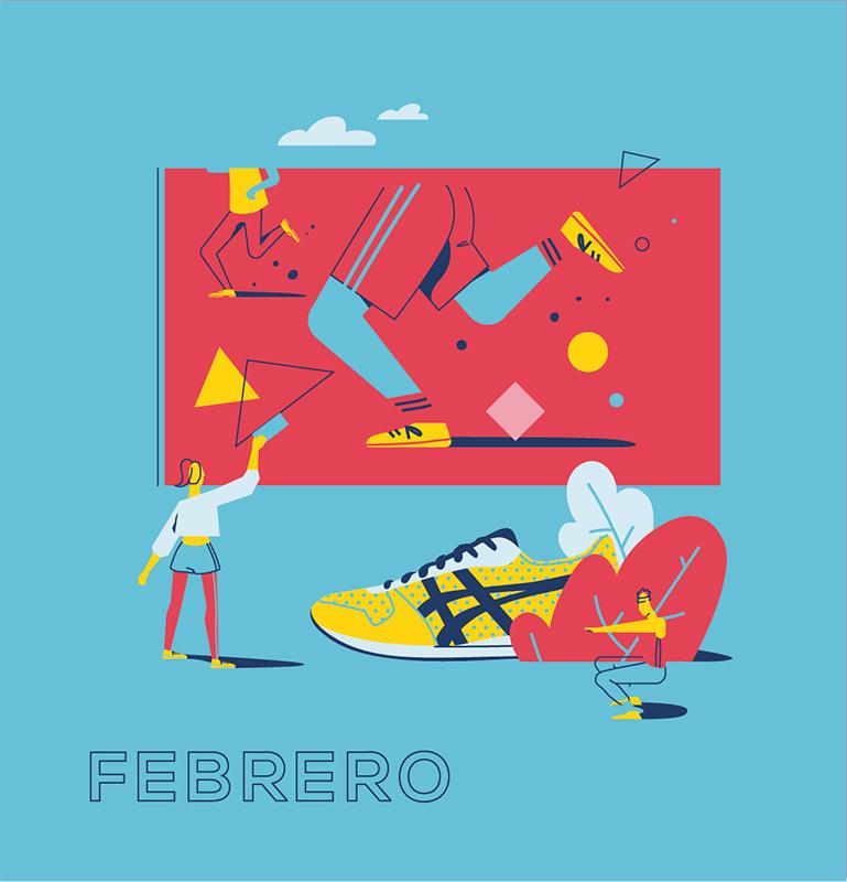 Ilustración de la ilustradora y animadora 2D Joëlle Carreño, febrero