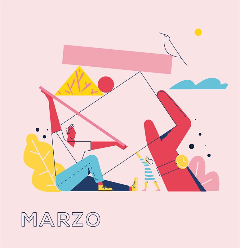 Ilustración de la ilustradora y animadora 2D Joëlle Carreño, marzo