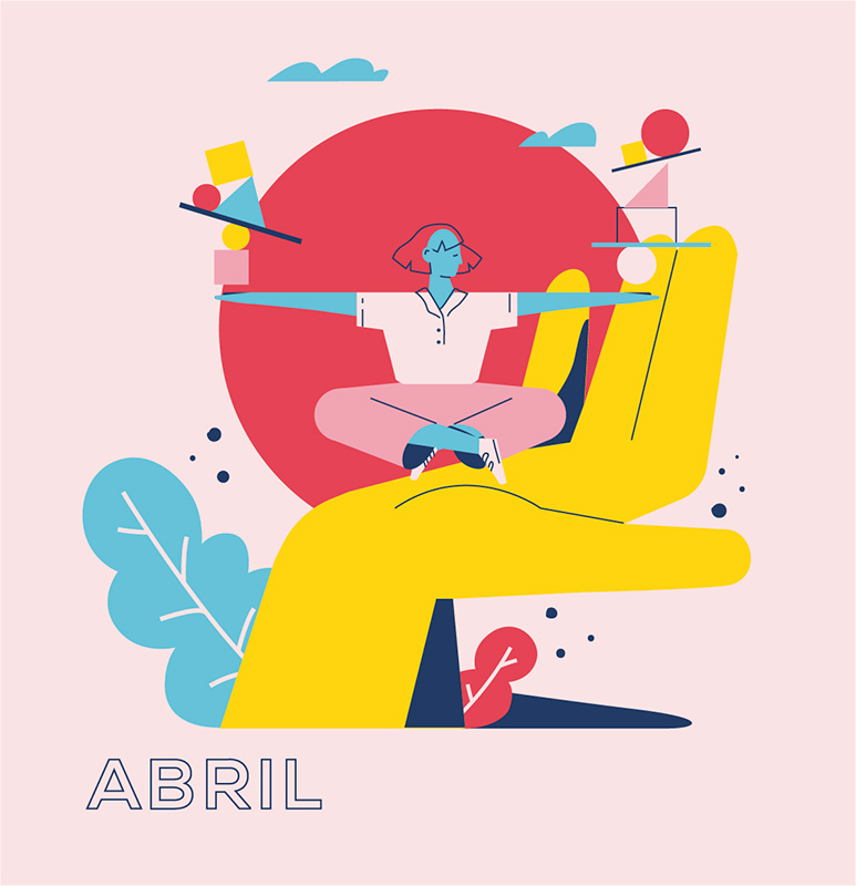 Ilustración de la ilustradora y animadora 2D Joëlle Carreño, abril