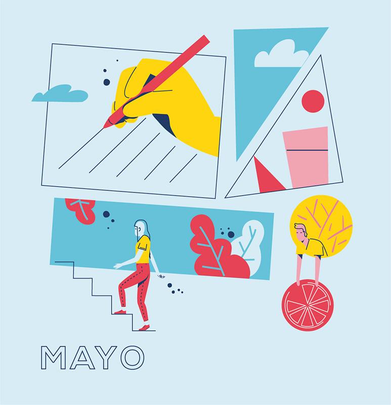Ilustración de la ilustradora y animadora 2D Joëlle Carreño, mayo