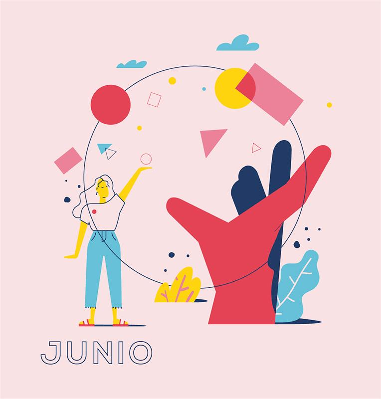 Ilustración de la ilustradora y animadora 2D Joëlle Carreño, junio