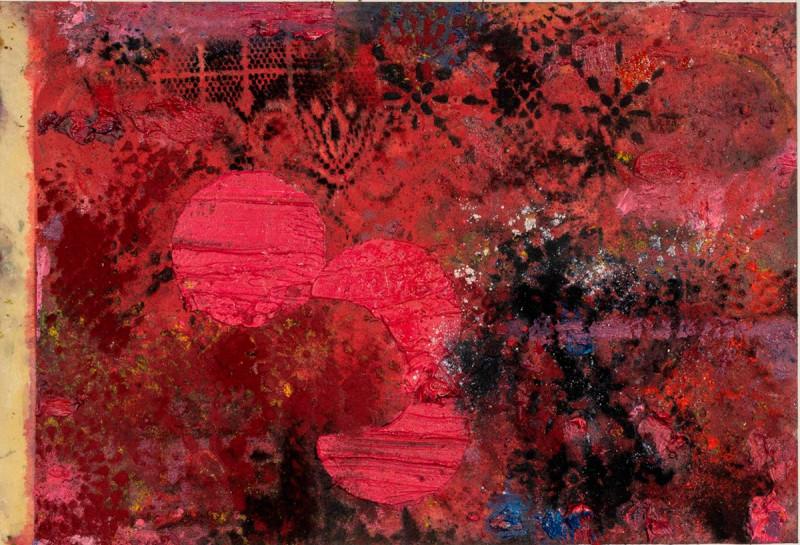 Anita Schwartz Galeria de Arte. Título: O Céu Como Cicatriz, Tapetes. Artista: Nuno Ramos. Año: 2019. Técnica: Oil and Pigment on Paper. Dimensiones: 55x37 cm