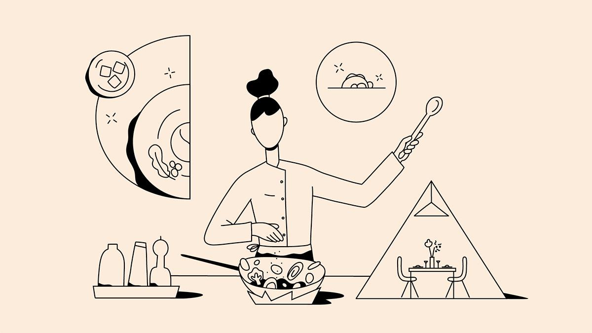 Ilustración de la ilustradora y animadora 2D Joëlle Carreño, servicio 1