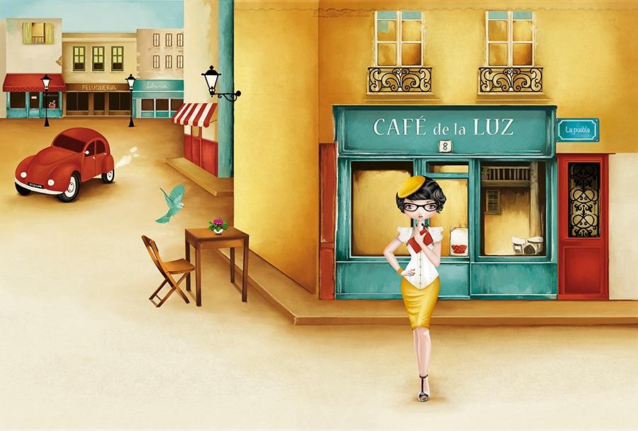 Ilustradora Noelia Diaz CAFE LA LUZ