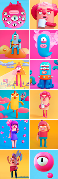 Agencia de ilustración June Illustration ilustrador Cosmik Madness, ilustraciones destacadas.