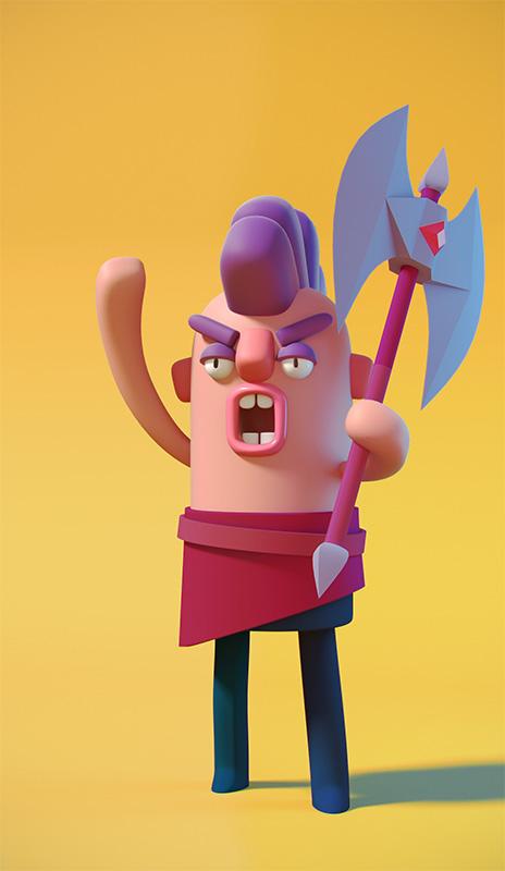 Agencia de ilustración ilustrador Cosmik Madness, Vargnar the wild axe master
