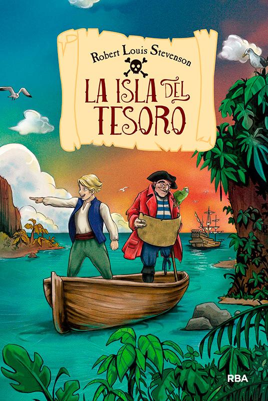 Agencia de ilustración June Illustration, ilustradora Cristina Serrano portada del libro La Isla del Tesoro
