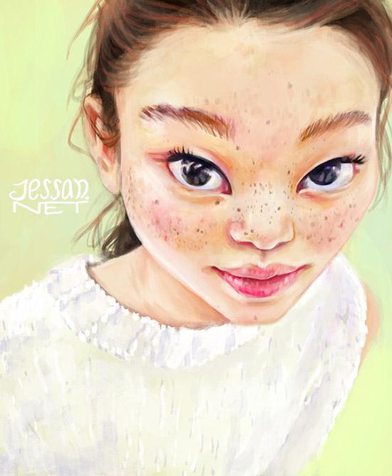 June Illustration ilustradora Jessica Sánchez