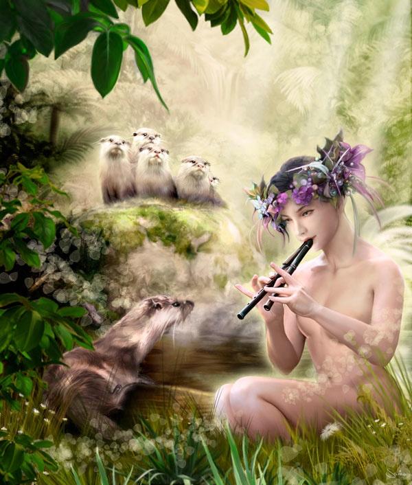 ilustradora Marisa López ilustración Concierto de Flauta