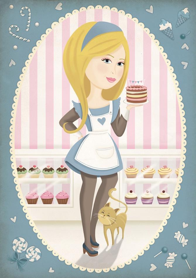Pirusca Ilustración Candy 01