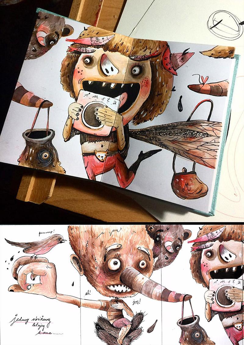 Obra de la ilustradora Valentina Brostean 24
