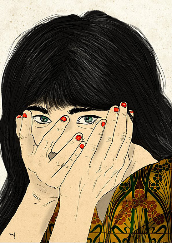 Ilustradora Marta Font Ilustración Shame