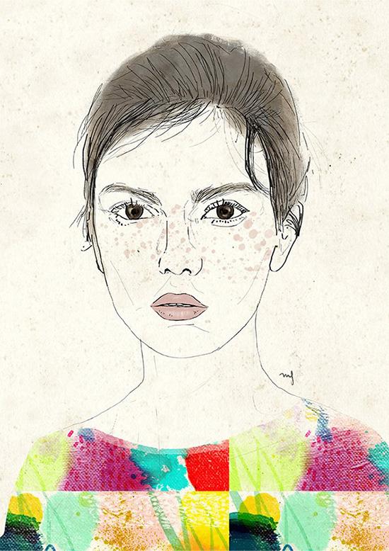 Ilustradora Marta Font Ilustración Watercoloured