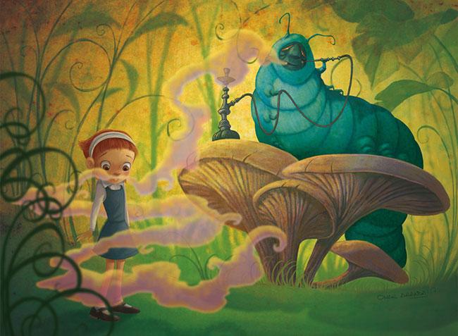 Ilustrador Omar Aranda Ilustración Alicia