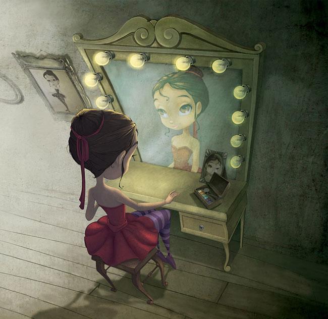 Ilustrador Omar Aranda Ilustración Bailarina