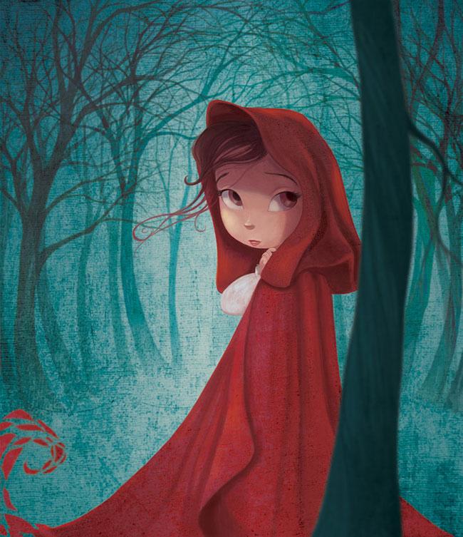 Ilustrador Omar Aranda Ilustración Caperucita
