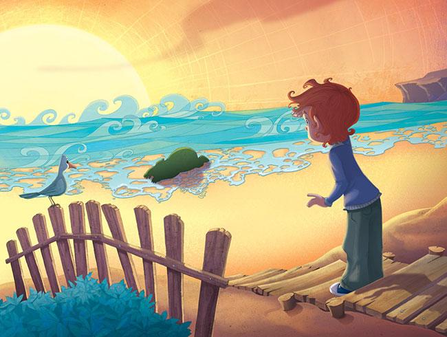 Ilustrador Omar Aranda Ilustración El club de los ogros