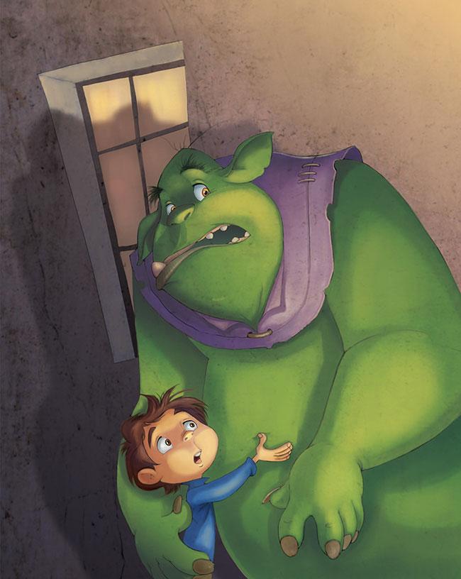 Ilustrador Omar Aranda Ilustración El club de los ogros. Diseño de personajes