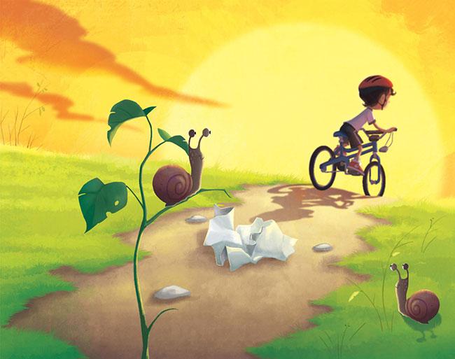 Ilustrador Omar Aranda Ilustración El papelito