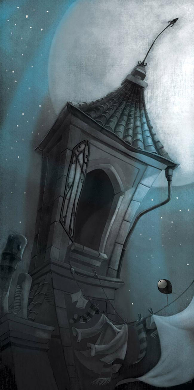 Ilustrador Omar Aranda Ilustración Historias oscuras