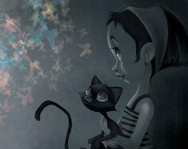 Ilustrador Omar Aranda Ilustración Historias oscuras 2