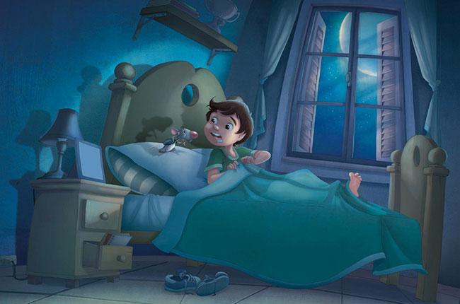 Ilustrador Omar Aranda Ilustración La bruja y el ratón