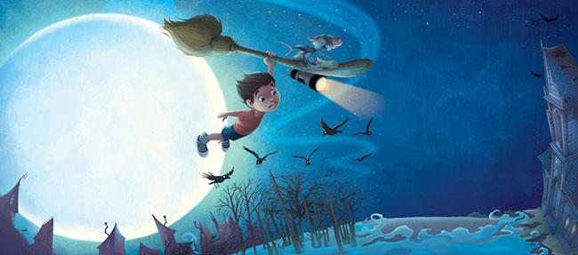 Ilustrador Omar Aranda Ilustración La bruja y el ratón 2
