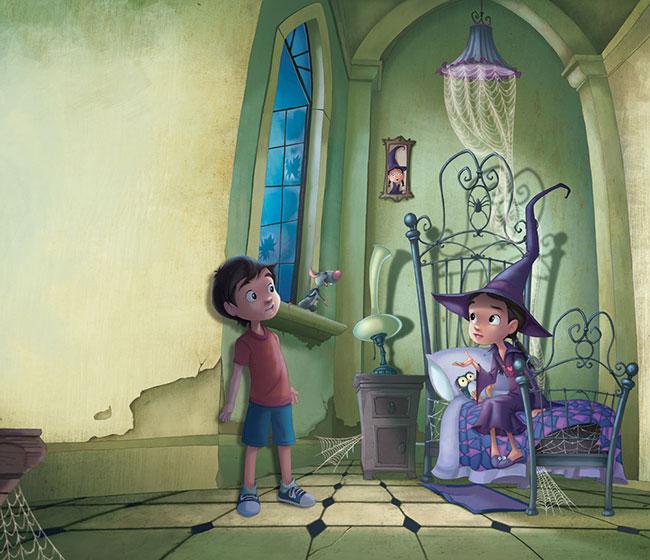 Ilustrador Omar Aranda Ilustración La bruja y el ratón 3