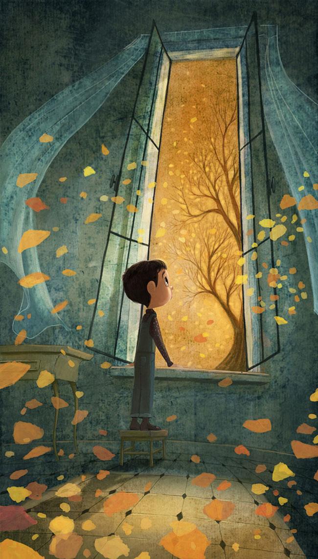 Ilustrador Omar Aranda Ilustración Otoño