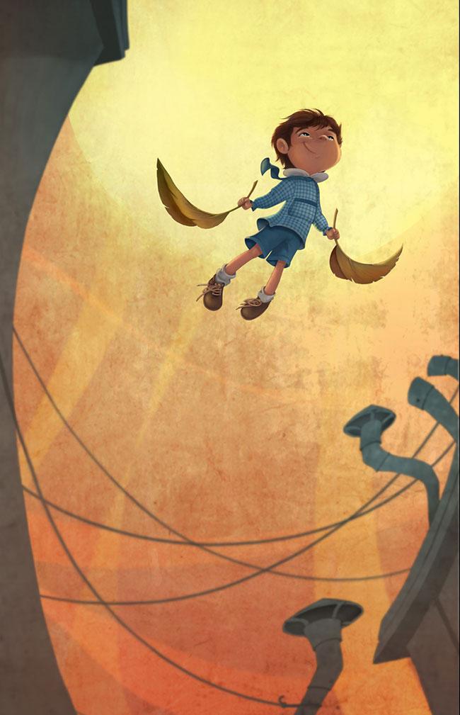 Ilustrador Omar Aranda Ilustración Volaré