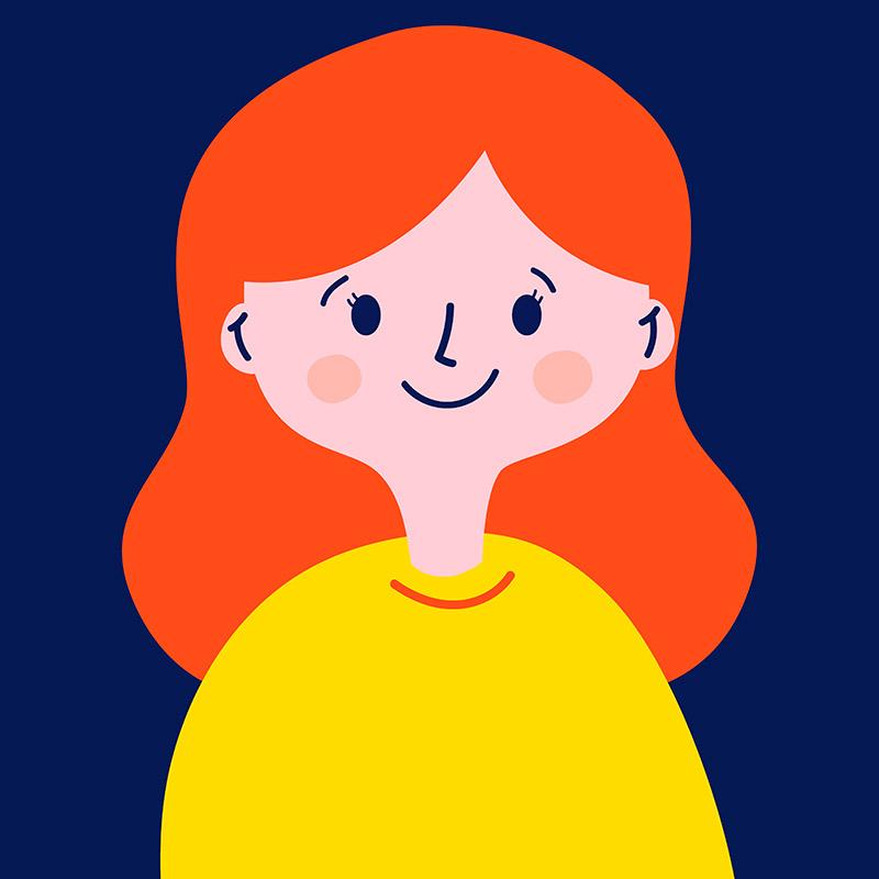 Agencia de Ilustración June Ilustration ilustradora Ana Latorre, Ana pelo rojo