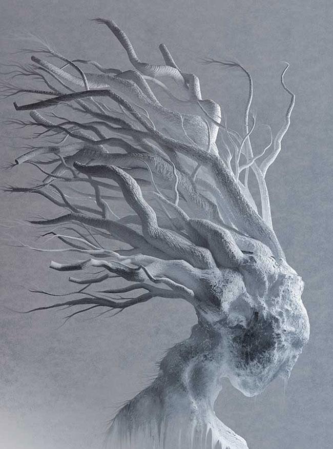 Ilustradora Gaby Thiery, ilustración Invierno