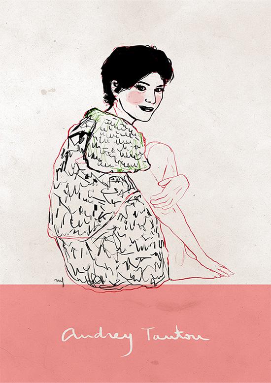 Ilustradora Marta Font, Ilustración Audrey